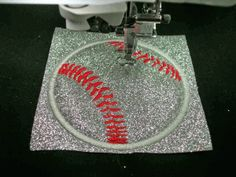 Embroidery on heat press vinyl tutorial. See how you can use an emroidery machine to make your own iron on transfers without a craft cutter like a Silhouette Cameo or Cricut Explore.