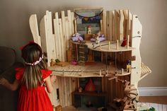Amazing doll house....This reminds me of the kids next door tree house. That would be an amazing doll house.
