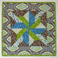 Freemotion by the River: Ibiza mini quilt