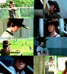 He's only 13. I know this looks bad. Carl Grimes is great.