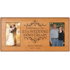 25th wedding anniversary photo frame by DaySpringMilestones