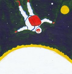 daniel frost: On the edge of space! a daily painting