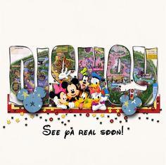 Disney Scrapbook Layout - Back of book