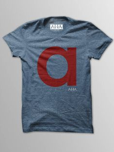 Scarlet Letter - Men's Indigo Tri-Blend T-Shirt in Perica Luic's store on Consignd - $24.00