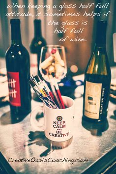 The Glass Half Full Philosophy & simple ways to show yourself creative kindness in this Mid-Week Oasis Moment.