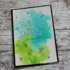 Card with watercolor background