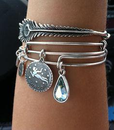Alex and Ani bracelets!  I want some!!!