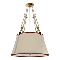 Ralph Lauren knock-off light.  I love the pulleys and the leather