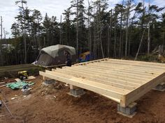 Building A Shed 619245017501991308 - How to: Build a Rock Solid, Low Cost Off Grid Cabin Foundation Source by Building A Small Cabin, Small Cabin Plans, Building A Shed, Shed Cabin, Diy Cabin, Tiny House Cabin, Tiny Houses, Cabin Ideas, Farm House