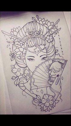 Geisha Tattoo Designs Simple - Geisha Tattoo Designs Simple Informations About Geisha Tattoo Designs Simple Pin You can - Japanese Geisha Tattoo, Japanese Drawings, Japanese Tattoo Designs, Japanese Art, Japanese Dragon, Japanese Prints, Geisha Tattoos Sleeve, Japanese Sleeve Tattoos, Geisha Tattoo Design