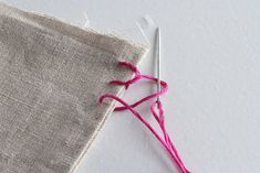 Sewing Basic How To Sew by Hand: 6 Helpful Stitches for Home Sewing Projects — Apartment Therapy Tutorials - We've rounded up six common stitches that can be used on a myriad of projects for home decor, complete with step-by-step photo tutorials. Sewing Basics, Sewing For Beginners, Sewing Hacks, Techniques Couture, Sewing Techniques, Hand Sewing Projects, Sewing Crafts, Diy Projects, Sewing Stitches