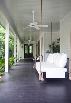 I need that swing in my life...  Mt. Pleasant, SC bungalow. Interior design by Jenn Langston