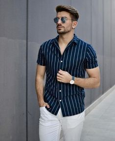 33 men's style trends you should undoubtedly try 8 Trendy Mens Fashion, Indian Men Fashion, Stylish Mens Outfits, Stylish Shirts, Mens Fashion Suits, Formal Dresses For Men, Formal Men Outfit, Men Formal, Summer Outfits Men