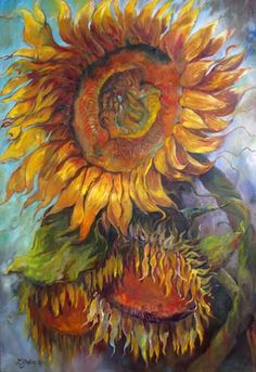 Windows of the Soul, copyright Laura Gable Rustic Flowers, Fall Flowers, Sun Flowers, Vincent Van Gogh, Daffodils, Pansies, Flower Shape, Flower Art, American Giant