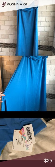 Lularoe Blue Maxi Skirt medium New with tags! NWT. Just doesn't fit how I hoped. Such a fun solid that will match everything! LuLaRoe Skirts Maxi