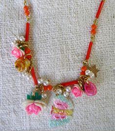 Vintage Bugle Bead Necklace - £98