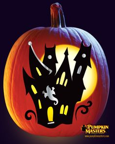 """""""House"""" pattern from the Pumpkin Masters Paint & Carve Kit."""