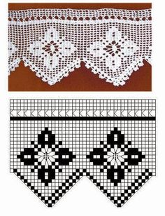 Bicos de crochê flores | Bicos de Croche