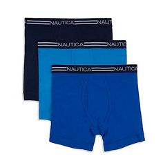Three pack of classic cotton boxer briefs.