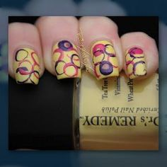 Look at this gorgeous nail design using Dr.'s Remedy Youthful Yellow!