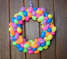 Easter Egg Wreath by Crazy Little Projects