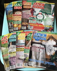 Magic Crochet vintage craft magazine back issues from 1991, 1992, 1993 - crafting - craft projects by SweetEmotionVintages on Etsy
