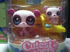 LITTLEST PET SHOP # 2674/2675 ADORABLE CUTEST PETS MOMMY PANDA WITH BABY