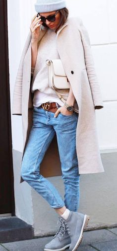fall outfit of the day| hat + coat + sweater + bag + jeans + boots