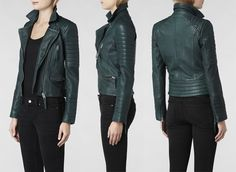 forest green - leather jacket - allsaints