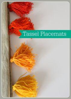 tassel placemats: diy mama blog
