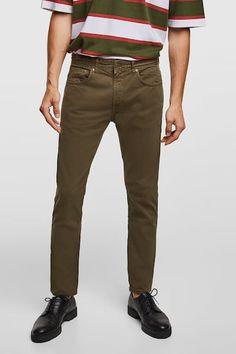 99a9533d BASIC SLIM FIT PANTS - Item available in more colors Khaki Pants, Men's  Pants,