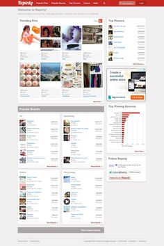 Pinterest Directory. Find the most popular pinners, boards, and pins on Pinterest. Get clear overview on what is trending now in different categories. Most Popular Boards, Popular Pins, What Is Trending Now, Mobile Marketing, Improve Yourself, How To Start A Blog, Infographic, Social Media