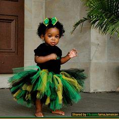 Tutu and hair bow in colours of Jamaican flag Cute Black Babies, Beautiful Black Babies, Brown Babies, Black Kids, Beautiful Children, Cute Babies, Black Child, Hello Beautiful, Beautiful People