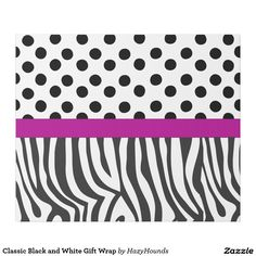 Classic Black and White Gift Wrap  http://www.zazzle.com/classic_black_and_white_gift_wrap-256330662169001555?rf=238588924226571373