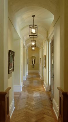 New Home Herringbone Pattern Natural Oak Hardwood Floor Hallway Ceiling Hallway Light Fixtures Dark & Ideas for lighting a small dark hallway | Hallway in 2018 ...