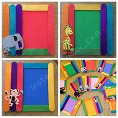 Ice cream stick craft for preschoolers | funnycrafts