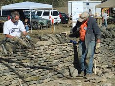 Bill Auten was looking for something fun and meaningful to do last October over an extended weekend with his wife, so he signed up for the Dry Stone Conservancy's 7th Annual National Walling Competition in Pleasant Hill, Kentucky. He wasn't the only person to travel for the day-long event. 35 participants came from 11 states, as far away as Vermont.