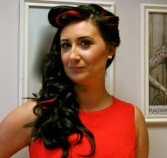 Racoon hair extensions curled with ghd Eclipse styler. 1950's Retro look Beautiful