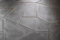 Concrete, panels, interior design, modern, microtopping