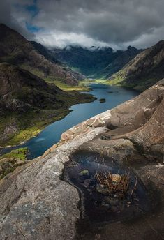 Beautiful secluded Loch Coruisk amidst the Cuillins last summer on the Isle of Skye, Scotland. Landscape Photography, Nature Photography, Travel Photography, Places To Travel, Places To See, Magic Places, Scottish Highlands, Highlands Scotland, Scotland Castles