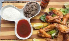 Receta de alitas de pollo fritas picantes y 3 salsas para acompañar |http://c.facilisimo.com/dsk/1994802.html?twa