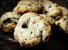 chocolate chip cookies ~ Grain Free, Egg Free, Dairy Free, Nut Free & Refined Sugar Free