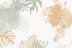 Beige leafy watercolor background vector | premium image by rawpixel.com / Aum Macbook Air Wallpaper, Ipad Air Wallpaper, Aesthetic Desktop Wallpaper, Computer Wallpaper, Wallpaper Backgrounds, Backgrounds For Computer, Cute Wallpapers For Ipad, Pretty Wallpapers, Wallpaper Powerpoint