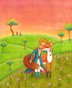 - Ah! - dijo el zorro... - Voy a llorar. - Es tu culpa – dijo el principito -, yo no te deseaba ningún mal pero tú quisiste que te domesticara. - Claro – dijo el zorro. - ¡Pero vas a llorar! – dijo el principito. - Claro – dijo el zorro. - ¡Entonces no ganas nada! - Sí gano –dijo el zorro – a causa del color del trigo. Luego agregó: - Ve y visita nuevamente a las rosas. Comprenderás que la tuya es única en el mundo. Y cuando regreses a decirme adiós, te regalaré un secreto.