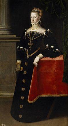 1551 Antonis Mor - María de Austria, wife of Maximilian II