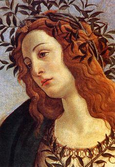 """Sandro Botticelli, """"Pallade e il centauro"""", 1480/82, 207 x 148 cm, Florence, Galleria degli Uffizi, detail"""