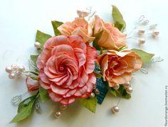 Цветы ручной работы. Ярмарка Мастеров - ручная работа Цветы из фоамирана. Букетик роз 4. Handmade.