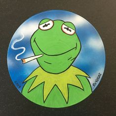 """/""""SMOKIN/' YODA/"""" print RT VEGAS signed original star wars marijuana lowbrow pot"""