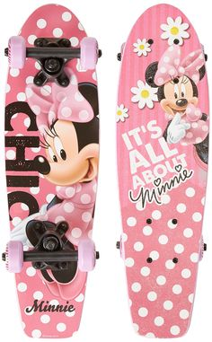 Disney Kid's Minnie Mouse Wood Cruiser First Complete Skateboard (Minnie Me), 21-Inch