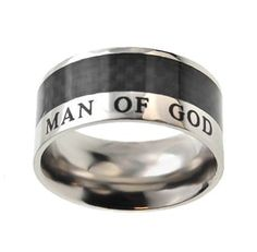 "Christian Mens Stainless Steel 10mm Abstinence Black Carbon Fiber ""Man of God"" 1 Timothy 6:11 Comfort Fit Chastity Ring for Boys - Guys Purity Ring Spirit & Truth, http://www.amazon.com/dp/B004QYZ470/ref=cm_sw_r_pi_dp_wpauqb137CR8W"
